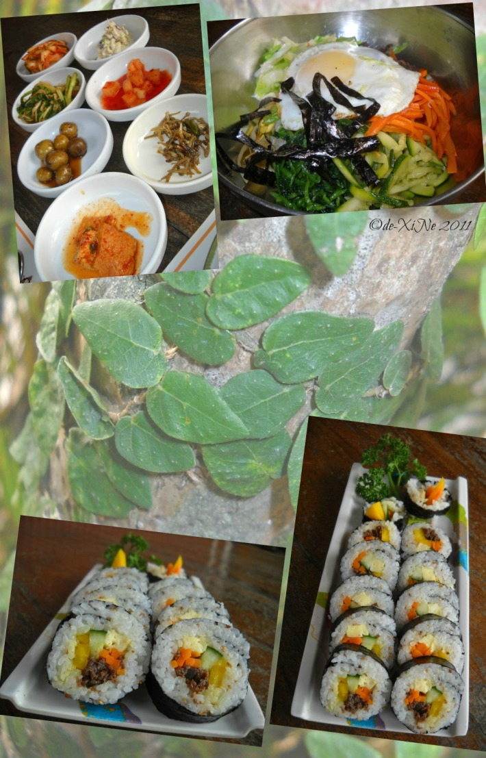 Korean Palace side dishes and dishes a la carte