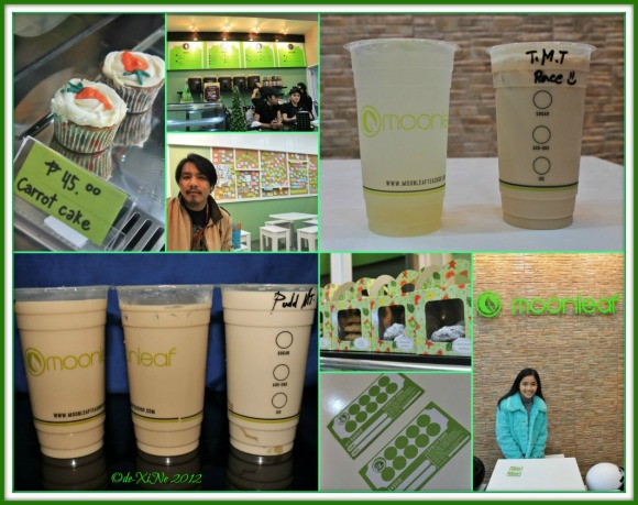 Moonleaf scene, drinks, snackables, loyalty cards and us