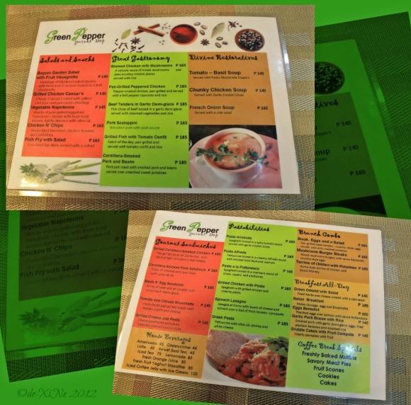 Green Pepper menu