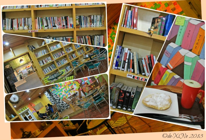 Under the Tree Book Cafe's book collection