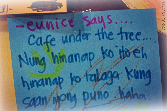 Under the Tree Book Cafe Eunice's scribblings