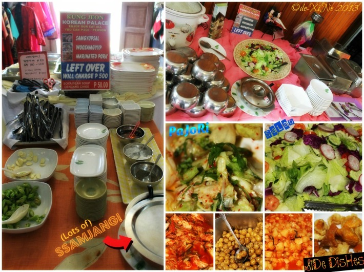Korean Palace grilled buffet spread