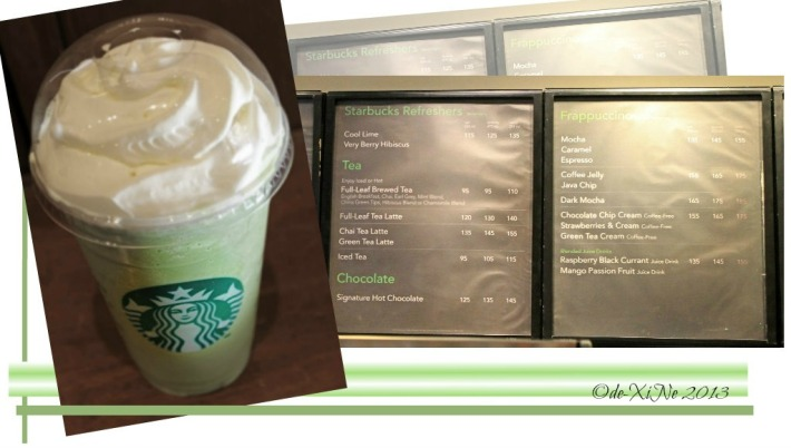 Starbucks green tea cream frap