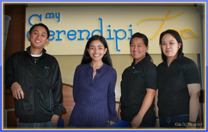 Me and the My Serendipitea staff