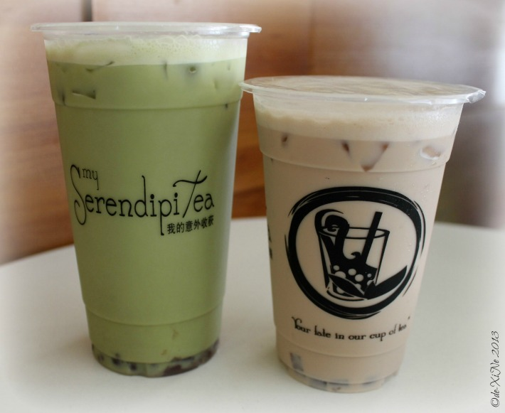 My Serendipitea(s) matcha green tea and wintermelon milk tea