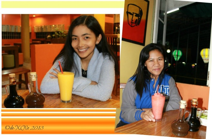 Beggang Resto Grill with our fruit (mango, strawberry) shakes