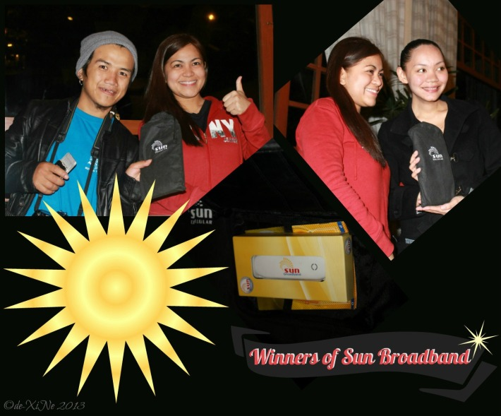 Sun Cell-Baguio Bloggers Party at Hill Station Sun broadband winners