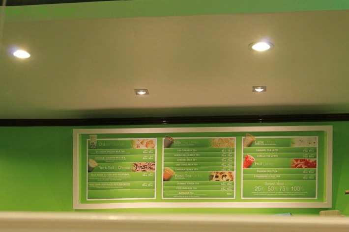 Cha Tien Milk Tea Shop menu