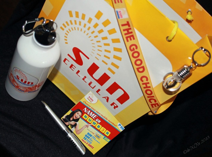 Goodie bag from Sun Cellular