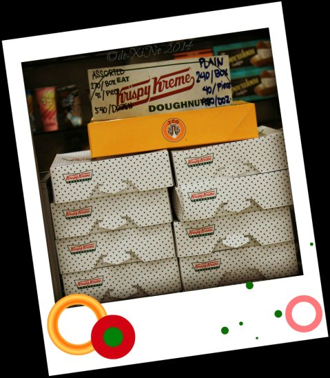 Krispy Kreme, J.Co donuts .. and speculoos cookies and spread at Sweet Corner Porta Vaga