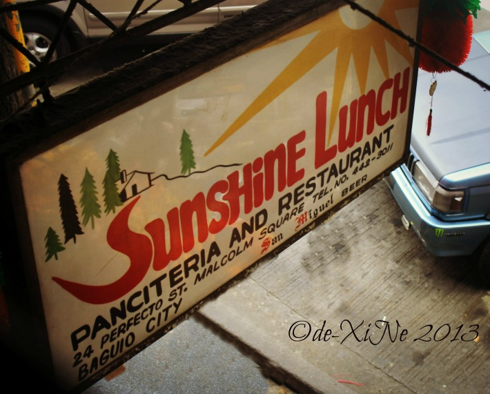 Sunshine Lunch sign