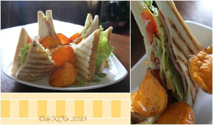 Kikan Restobar club sandwich