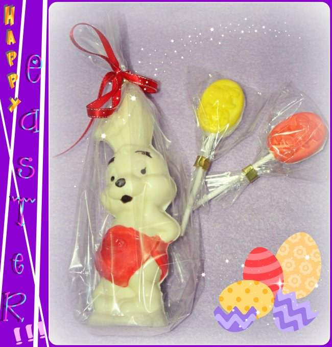Le Chef bunny shaped chocolate