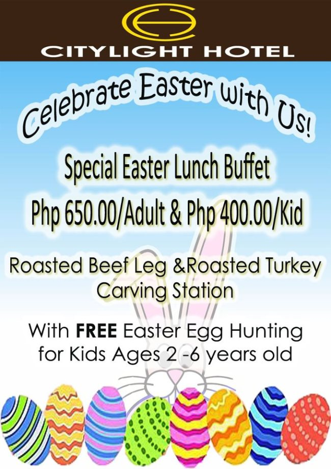 Citylight Hotel Easter lunch buffet special