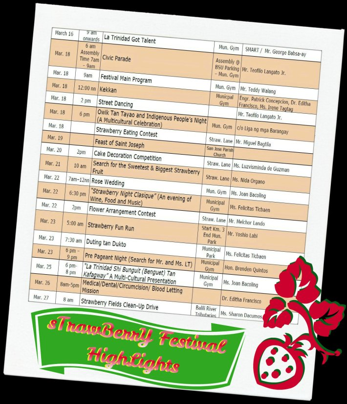 Strawberry Festival 2013  program highlights - schedule