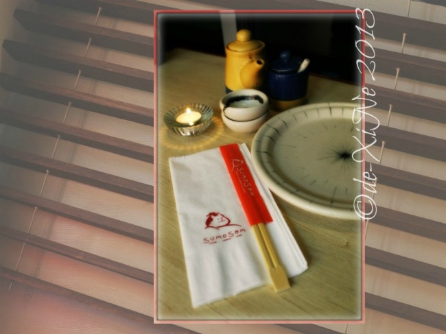 Sumo Sam table setting
