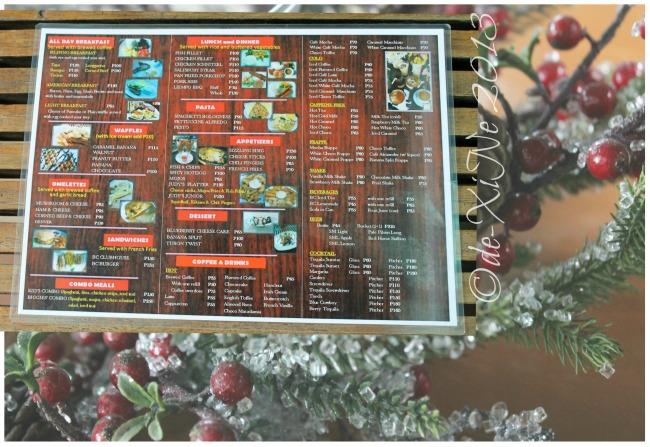 Barn Cafe updated menu