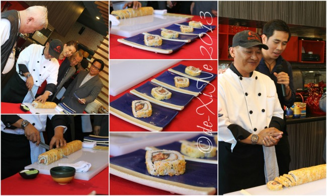 Sumo Sam Chef Nonoy Melchor and the giant dynamite roll