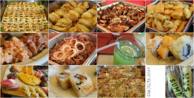 Sumo Sam grand opening buffet dishes