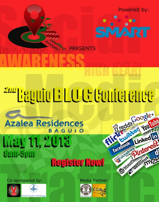 Baguio Blog Conference poster
