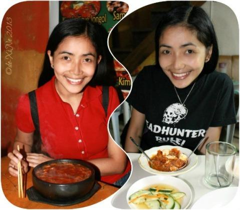 Xine enjoying Wency's Restaurant soondubuchigae/sondobujigye