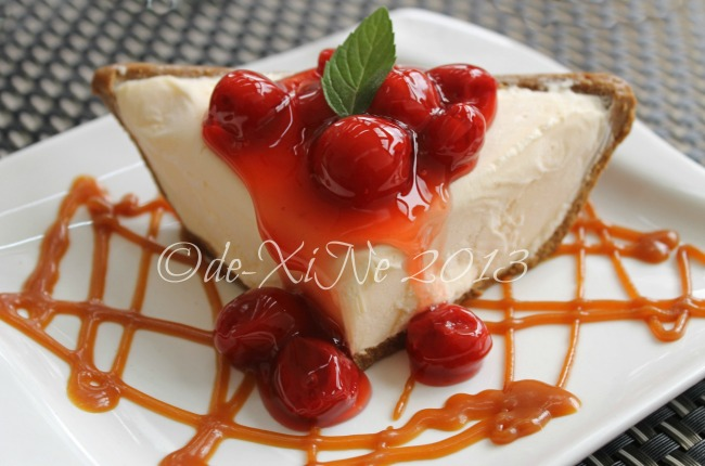 C Boutique Hotel frozen cherry cheesecake