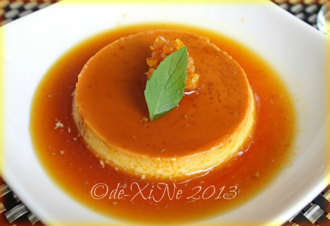 C Boutique Hotel leche flan with orange sauce