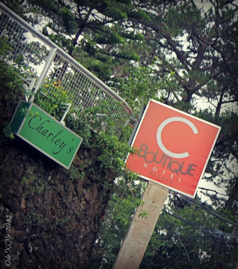 C Boutique Hotel sign