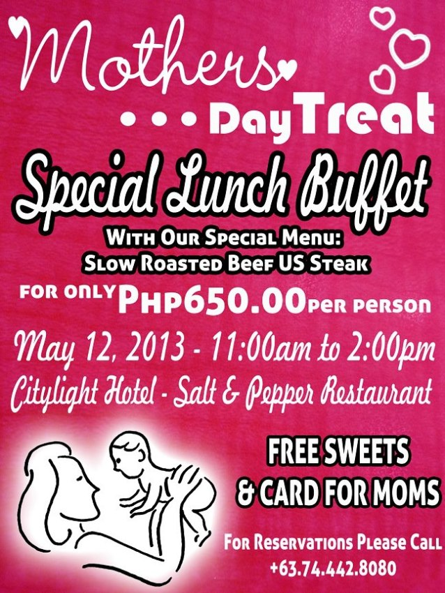 Citylight Hotel mother's day lunch buffet special