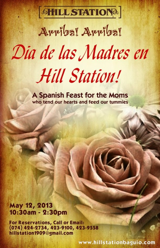 Hill Station mother's day lunch buffet special