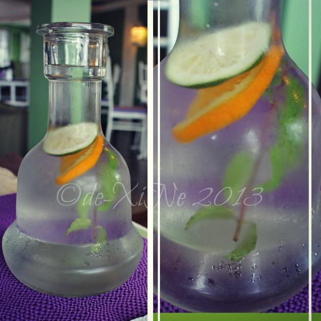 Sage Restaurant service water