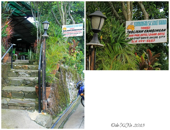 Tabligan Kambingan sa Scout Barrio entrance