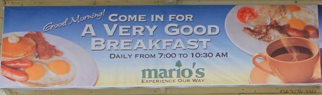 Mario's A Very Good Breakfast