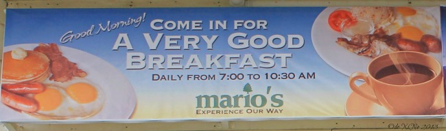 Mario's A Very Good Breakfast