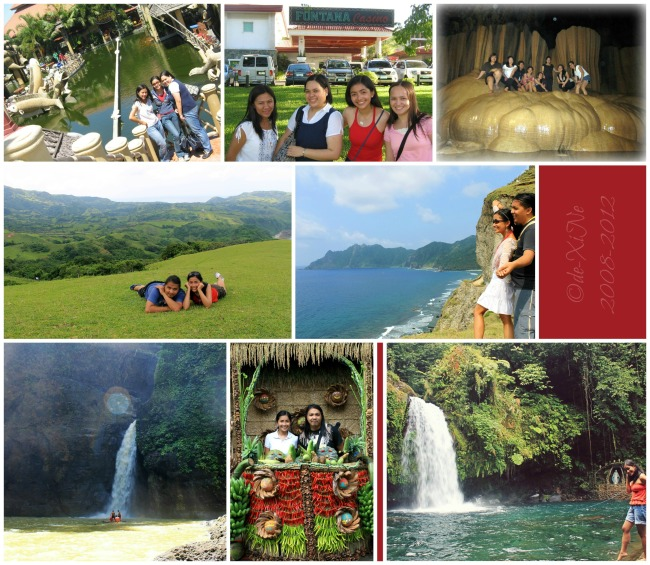 Xine and friends summer vacays (Isdaan Tarlac, Fontana Pampanga, Sumaguing Caves Sagada; Marlboro Country Racuh-a-Payaman Basco, Sabtang, Batanes; Pagsanjan Laguna, Lucban Quezon, Majayjay Laguna)