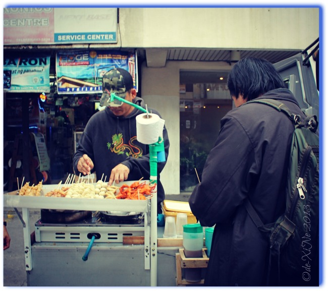 Manong and his Street Food Cart