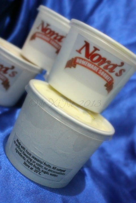 Nora's Homemade Sorbet ... product details
