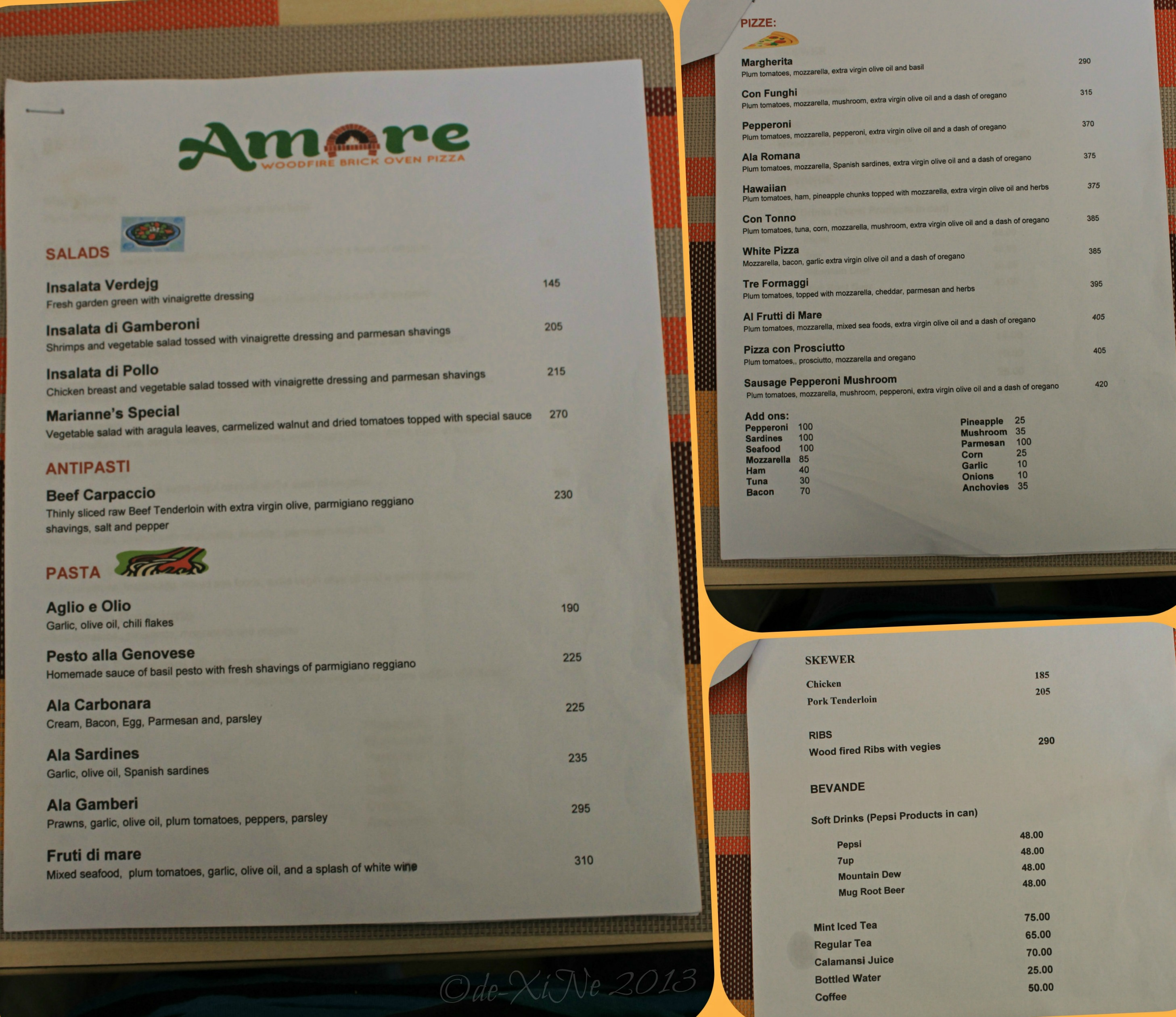 Amare la cucina love the kitchen love the food x marks for Menu cucina