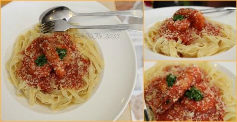 Amare La Cucina ala gamberi pasta