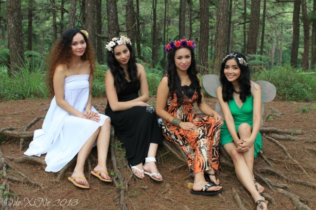 Fairy Concept Shoot at CJH Ecotrail, models at rest
