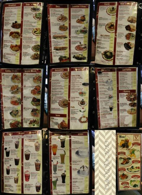 Cafe Veniz menu