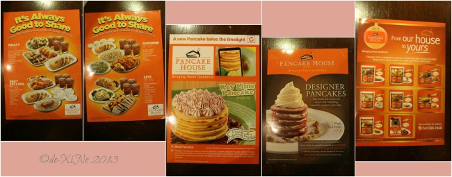Pancake House (CJH Ayala Technohub) additional menus