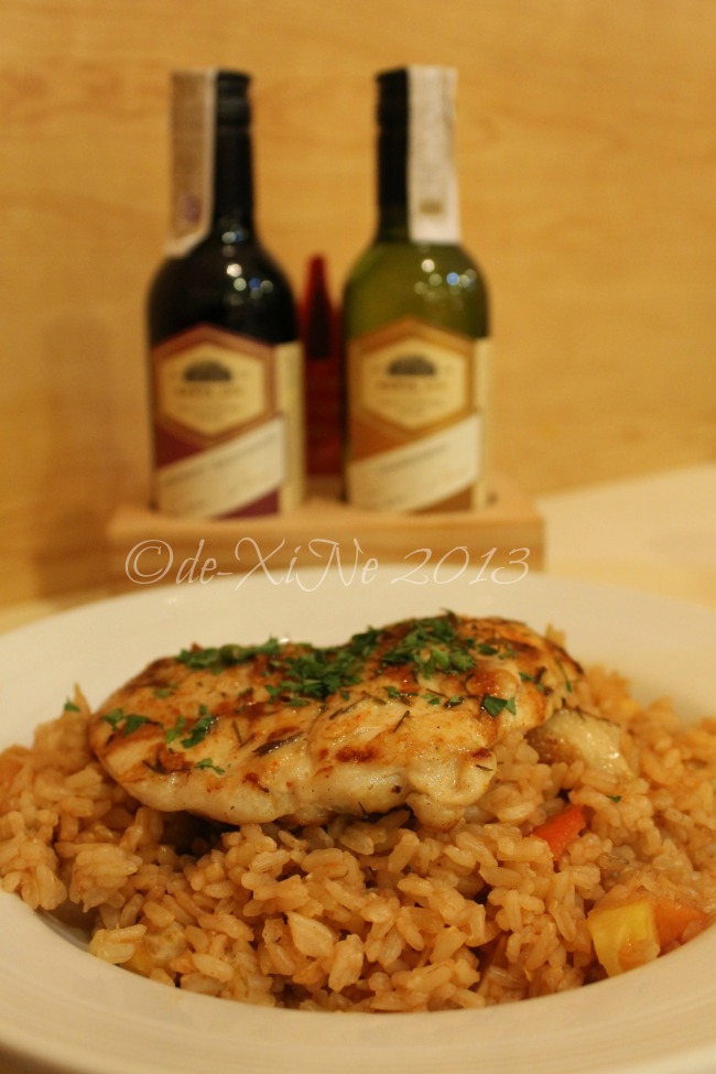 Pancake House (CJH Ayala Technohub) spicy chicken fillet with brown rice pilaf