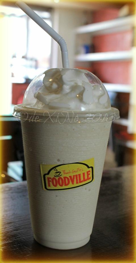 FoodVille Baguio vanilla macadamia frappe