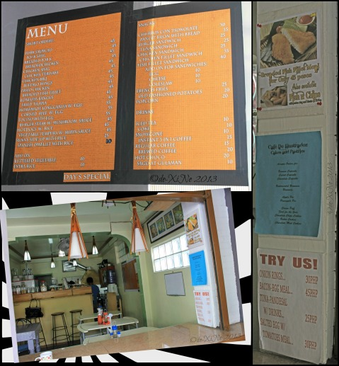Cafe de Illustradoz Baguio menu and scene