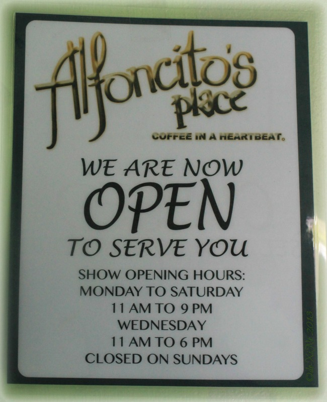 Alfoncito's Place Baguio business hours