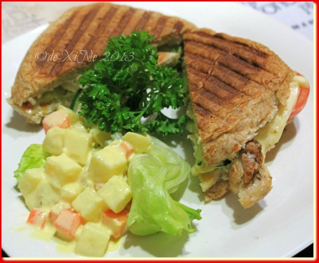 Alfoncito's Place Baguio grilled chicken panini with potato salad