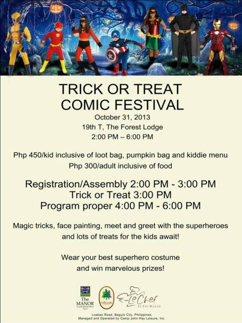 19th T at Forest Lodge trick or treat comic festival 2013 poster