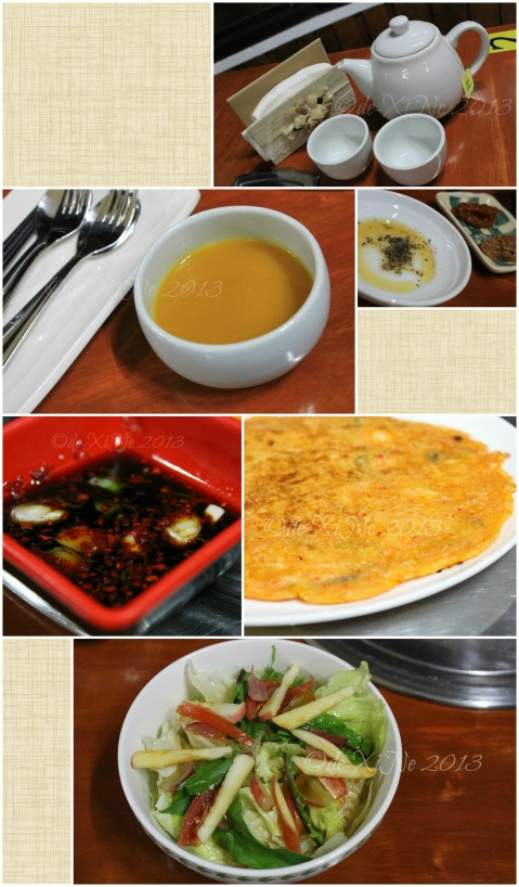 Wellbeing Ssampbap Korean Restaurant Baguio service tea, soup, ssamjang, Korean pancake, salad