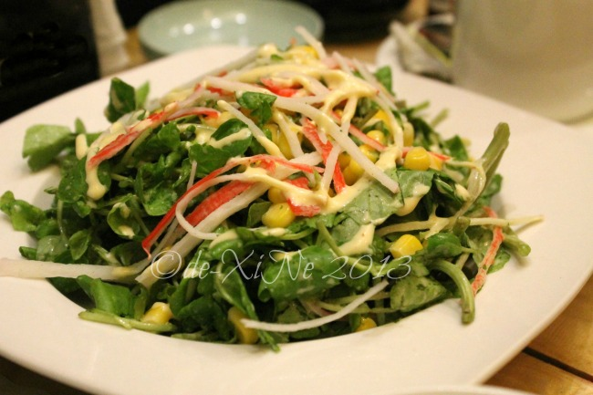 Backyard Baguio Japanese watercress salad